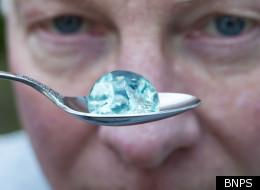 The mystery blue balls rained down into Steve Hornsby's Dorset garden