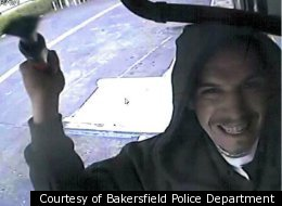 Smile, you're on candid camera! This guy allegedly stole this security camera in Bakersfield, California.