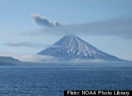 Cleveland Volcano in Alaska.