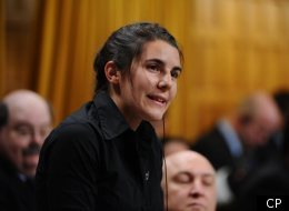 New Democratic MP Lysane Blanchette-Lamothe stands during question period in the House of Common on Parliament Hill.