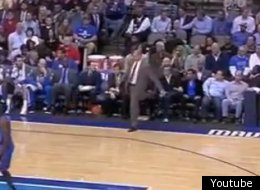 Rick Carlisle apologized to a fan after a ball he kicked hit them.