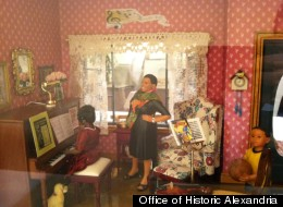 Sharon J. Frazier recalled her own music lessons to create the Music Teacher's Home, a new addition to the collection of miniature rooms and buildings.
