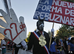 Chilean students protesting over education reforms in November 2011
