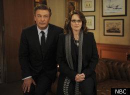 Tina Fey and Alec Baldwin in