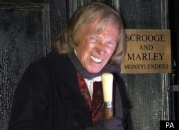 Pop legend Tommy Steele played Ebenezer Scrooge at the London Palladium