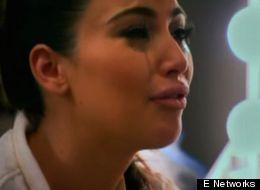 Kim Kardashian Cries On