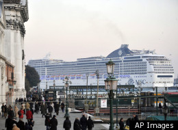 A cruise liner sails past the Giudecca canal in Venice, Italy. The fatal grounding of the Costa Concordia off the Tuscan coast has sharpened the focus on the largely unchecked boom of these ever-larger luxury liners, and nowhere more so than in Venice, a fragile city already struggling against mass tourism and the steady deterioration of its underwater foundations. There's growing clamor for an urgent rethink to the expanding cruise liner traffic through Venice's historic center. Critics point n