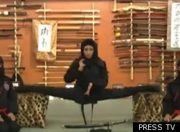 There are 3,500 women signed up to be ninjas in Iran.
