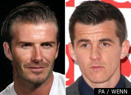 David Beckham and Joey Barton
