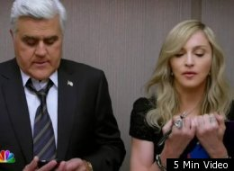 Madonna stole the show at halftime of the Super Bowl and also appeared in a commercial with Jay Leno.