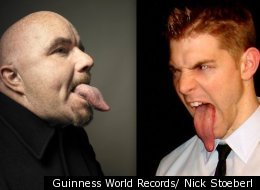 Stephen Taylor's 3.86-inch tongue currently owns the Guinness World Record, but Nick Stoeberl thinks his 3.988-inch tongue will easily lick him.
