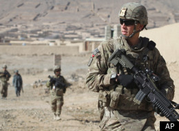 U.S. soldiers with the NATO-led International Security Assistance Force are seen during a foot patrol in Kandahar, south of Kabul, Afghanistan, Jan. 7.
