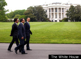 Rep. Gary Ackerman wants visitors, like these foreign leaders with President Obama in 2009, to know slaves helped build the White House.
