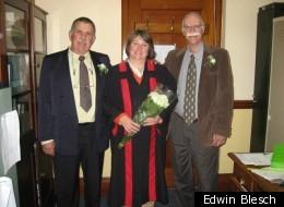 Tim Smulian and Edwin Blesch after their wedding.