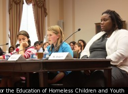 Homeless children testify at a congressional hearing in December about a bill aimed at expanding HUD's definition of homelessness.