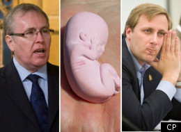 Tory MPs Stephen Woodworth, left, and Brad Trost have become vocal advocated for fresh debate on Canada's abortion laws. (CP)