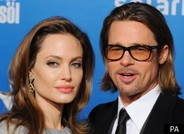 Angelina Jolie in Berlin with Brad Pitt to accept an award for raising awareness of human rights