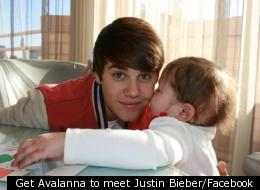 Get Avalanna to meet Justin Bieber/Facebook