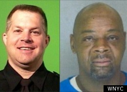 NYPD cop Kevin Herlihy (L), and suspect Michael McBride (R)