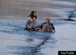 The mother and baby were pushed into the sea by the incoming tide