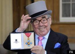 Ronnie Corbett CBE has been awarded his medal by the Queen at Buckingham Palace today