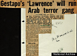 The files reveal details about Britain's first double agent (left) and the Nazi's own 'Lawrence of Arabia'