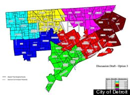 The 'Option 3' map for Detroit's new City Council districts was approved by the body Thursday.
