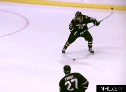 Mike Ribeiro's overtime goal for the Dallas Stars.