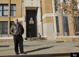 FILE- In this Dec. 1, 2011 file photo, Bronx Household of Faith co-pastor Robert Hall poses for a portrait in front of P.S. 15 in the Bronx borough of New York. The 2nd U.S. Circuit Court of Appeals ruled on Friday, Feb. 17, 2012, that the Bronx Household of Faith can continue to meet at a public school, at least temporarily. It is the only church permitted to hold services at a New York City public school while its constitutional challenge to the city's ban is being considered. (AP Photo/Mary A