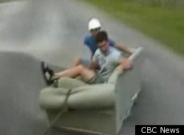 Couch surfing -- much like this -- killed a man in Quebec on Saturday.
