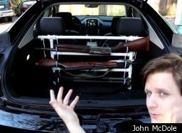 Atlanta resident John McDole put a gun rack in the back of his Chevy Volt to prove Newt Gingrich wrong.