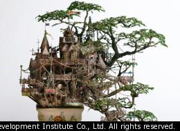 Takanori Aiba has made the mini treehouse of our dreams