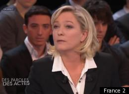 Marine Le Pen lors de son passage sur l'émission en juin 2011