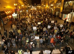 Occupy Chicago protests in the city's Loop last fall. Massive public demonstrations are expected to coincide with the city's hosting of the concurrent NATO and G8 summits in May.