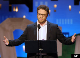 Seth Rogen made his award-hosting debut at the Independent Spirit Awards in Santa Monica on Saturday