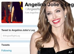 Twitter me this: Angelina Jolie's right leg is an online phenomena
