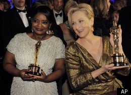 rom left, Octavia Spencer with the Oscar for best actress in a supporting role for