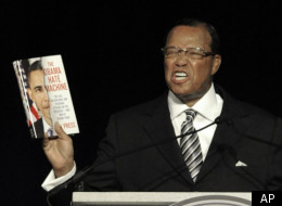 Nation Of Islam Minister Louis Farrakhan speaks during the Saviours' Day annual convention at the United Center in Chicago, Sunday, Feb. 26, 2012. (AP Photo/Paul Beaty)