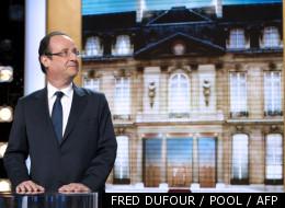 Le candidat socialiste François Hollande, sur le plateau de l'émission Parole de candidat sur TF1