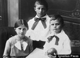 Maria (left), Georg and Joseph Ratzinger