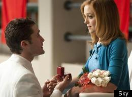 Mr Schu's (Matthew Morrison) proposal to Emma (Jayma Mays) which inspires the episodes title 'Yes/No'