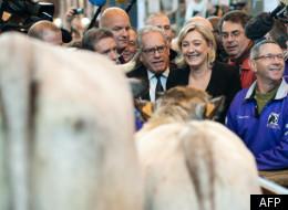 Marine Le Pen au Salon de l'agriculture 2012