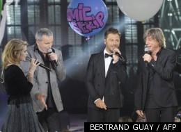 Cœur de Pirate, Bernard Lavilliers, Christophe Mae, Jean-Louis Aubert et Jennifer pendant la cérémonie des Victoires de la Musique en 2011