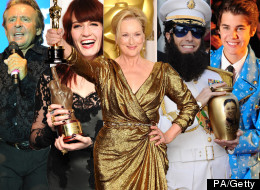 Davy Jones, Florence Welch, Meryl Streep, Sacha Baron Cohen and Justin Bieber