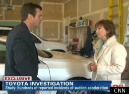 CNN interviewed Tanya Spotts, who says her Lexus surged forward and hit a wall while she was stepping on the brake.