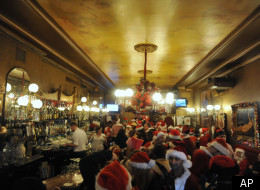 Even Santa loved to drink at the Gold Dust Lounge.