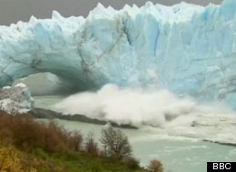 Argentina's Perito Moreno glacier treated tourists to a dramatic ice fall over the course of several days. (BBC)