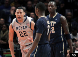 Georgetown eliminated Pittsburgh from the 2012 Big East Tournament.