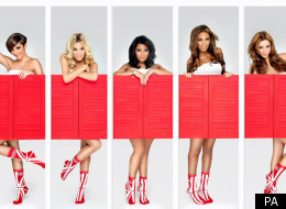 The Saturdays have joined in Sport Relief, with socks on
