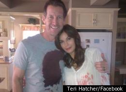 Teri Hatcher with 'Desperate Housewives' co-star